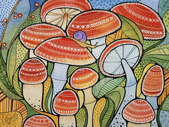 mushrooms cards, mushrooms postcards, fly-agaric postcard,