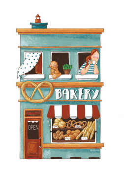 postcard store, the postcard store, bakery postcard