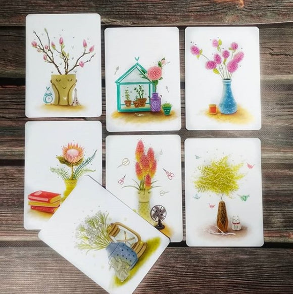 Set of 7 cards