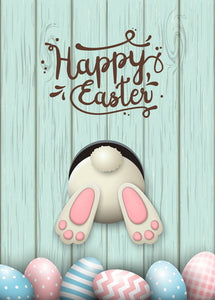 Happy Easter Day postcard, Happy Easter postcard, bunny postcard