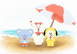 """Watermelon"" BT21 Postcard"