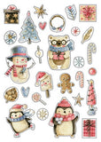 cute christmas stickers, christmas stickers,