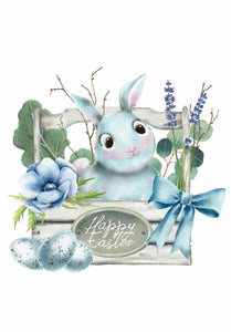 easter bunny, easter bunny postcard, bunny postcard, happy easter postcard