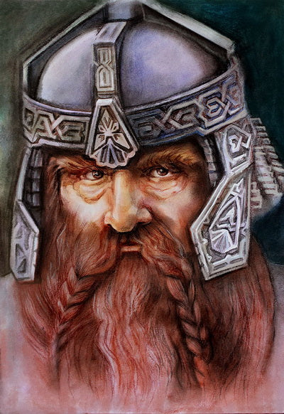 Gnome Gimli card, Gnome postcard, Gimli card
