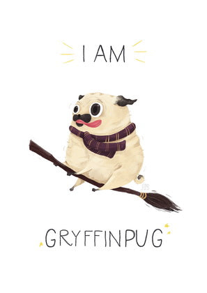 Harry Potter, Hogwarts, pug, faculties of Hogwarts, Gryffindor