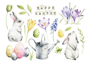 happy easter card, happy easter postcard