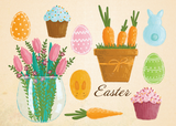 postcards for easter, easter time, happy easter postcard greetings