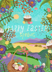 happy easter postcard, Happy Easter Day postcard, Happy Easter spring postcard
