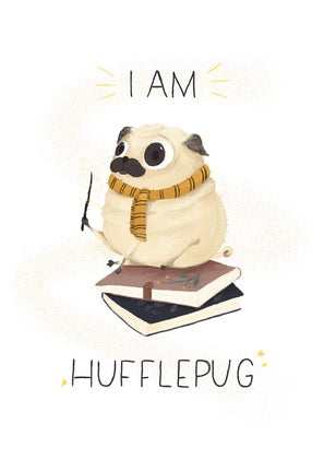Harry Potter, Hogwarts, pug, faculties of Hogwarts, Hufflepuff