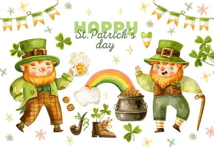 leprechauns postcard, Good Luck to You on St. Patrick's Day Postcard, St. Patrick's Day Postcard, St. Patrick's Day Postcards for sale
