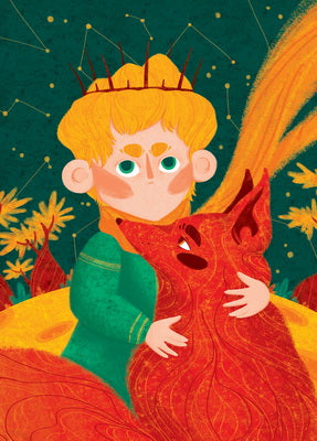 little prince postcard, little prince and fox postcard, postcard sale, cheap postcards for sale