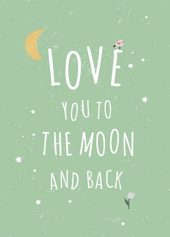 I Love You so much Greeting Card, love you to the moon and back postcard, love you postcard, love postcard