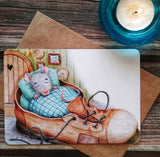 "Postcard ""Mouse in a boot"""