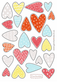 Stickers with Hearts, heart stickers