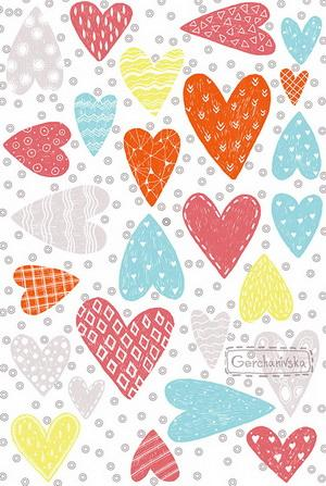 heart postcards, hearts postcard, valentine hearts postcard