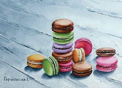 Macarons Postcard, Macarons Postcard for sale, cheap macaroon postcard