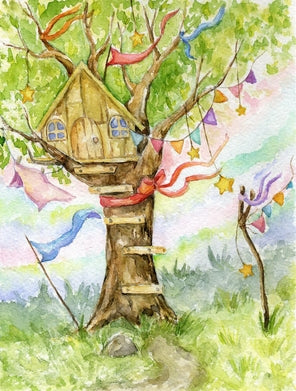 postcard tree house, home postcards