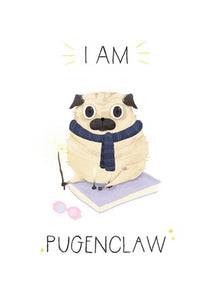 Harry Potter, Hogwarts, pug, faculties of Hogwarts, Ravenclaw card