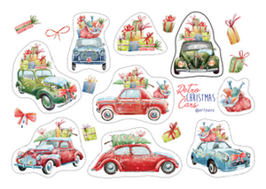 christmas stickers, christmas car stickers