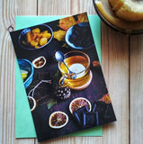 "Flatlay Postcard ""Tea & Chocolate"""