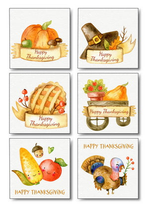 Thanksgiving Day Stickers, Happy Thanksgiving Day Stickers