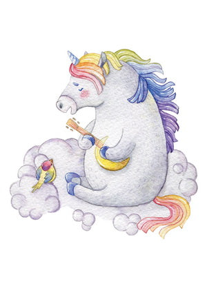 Romantic postcard, postcard unicorn, art postcard