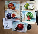 fruit postcards, set of fruit postcards