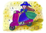 Witch Greeting card , witch postcard, halloween postcard, halloween postcards for sale funny, halloween postcards, happy halloween postcards
