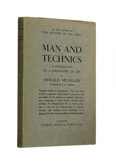 Man And Technics by Oswald Spengler, an audio book read by Scott Hambrick