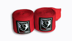 "180"" Red Cotton Handwraps"
