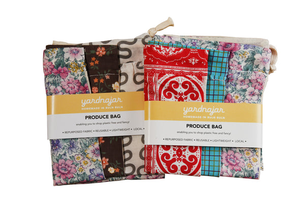 Fabric produce bags - Pack of 3
