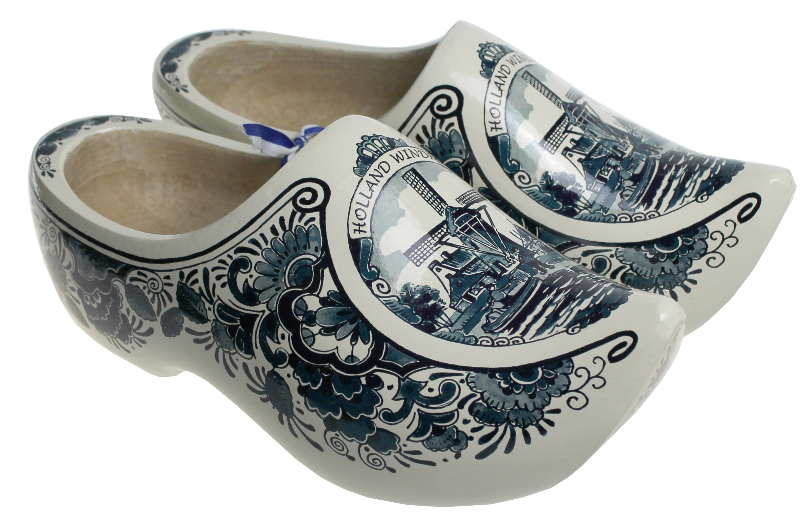 Luxury Decorated Wooden Shoes Delft Blue