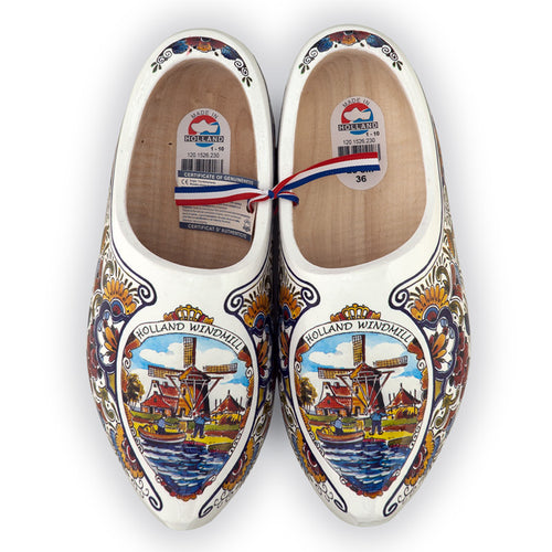 Luxury Decorated Wooden Shoes Poly Colored