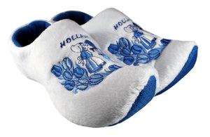 Delft Blue Kissing Couple Slippers