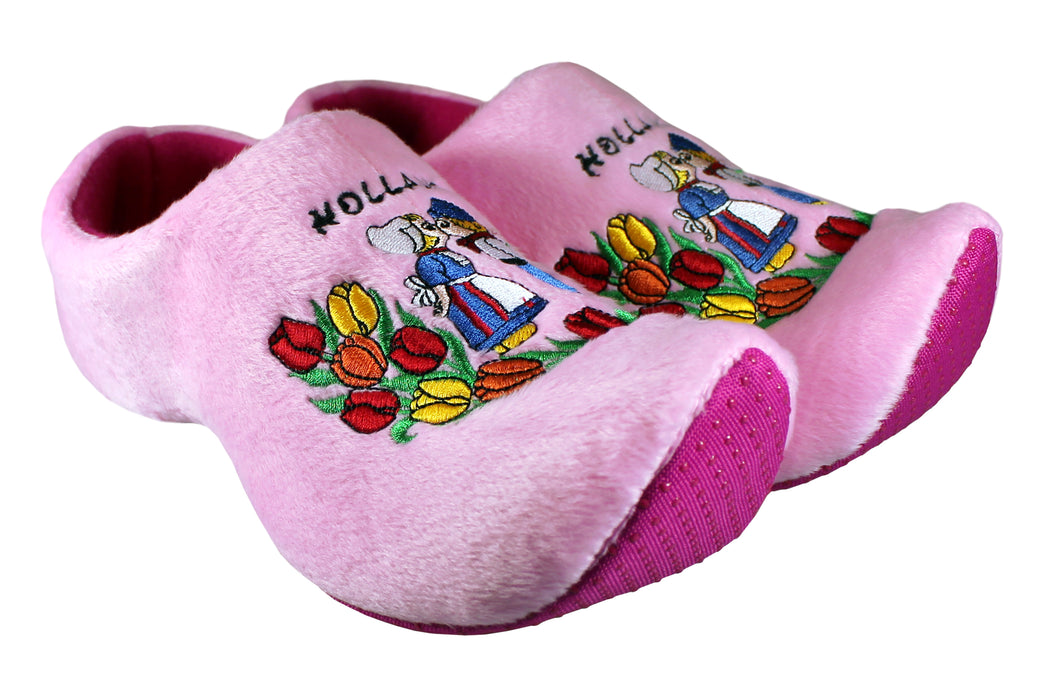 Pink Kissing Couple Slippers