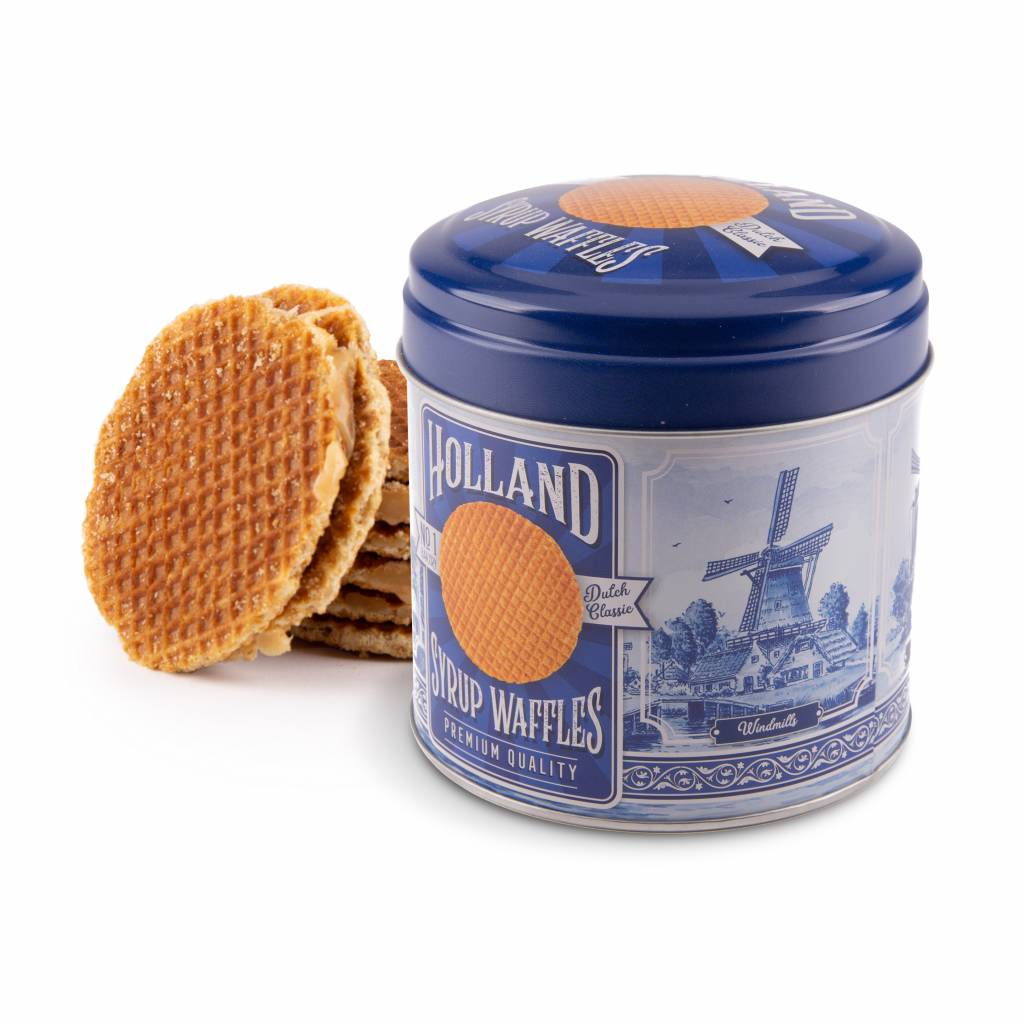 Dutch 'Stroopwafels' - Delft Blue Windmill