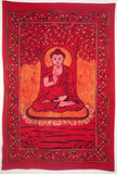 BUDDHA THE ENLIGHTENED ONE TAPESTRY RED