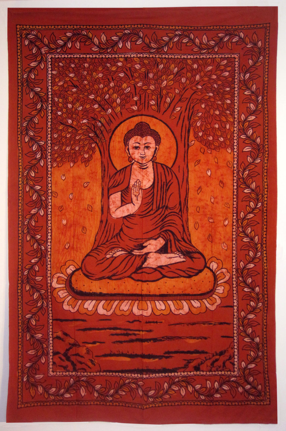 BUDDHA THE ENLIGHTENED ONE TAPESTRY BROWN