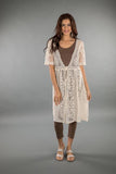 LACE APPAREL-OFF WHITE CARDIGAN LONG 219030