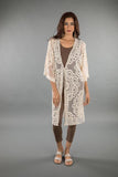 LACE APPAREL-OFF WHITE CARDIGAN LONG 219033