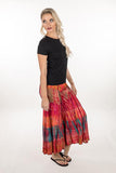 PANTS BELL BOTTOM RAYON SPANDEX TIE DYE ORANGE HUES