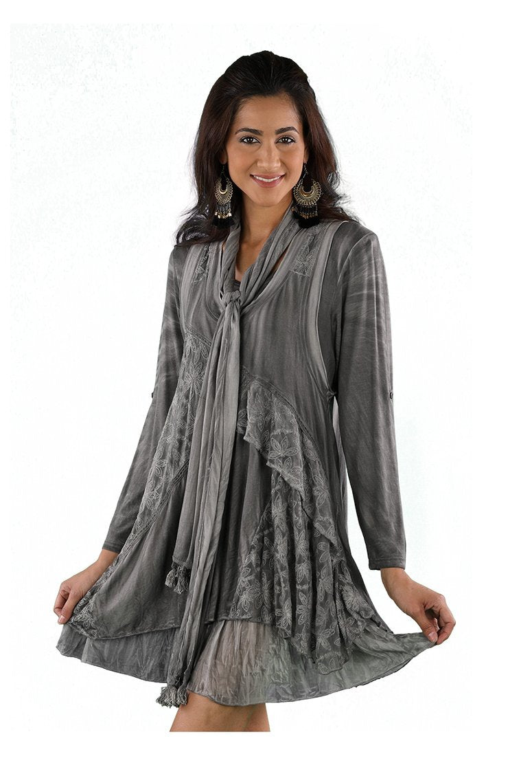 DRESS RAYON GREY 219650