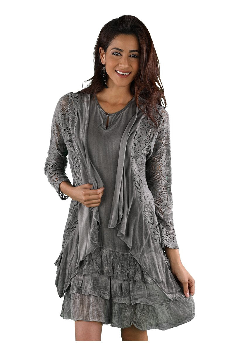 DRESS RAYON GREY 219654