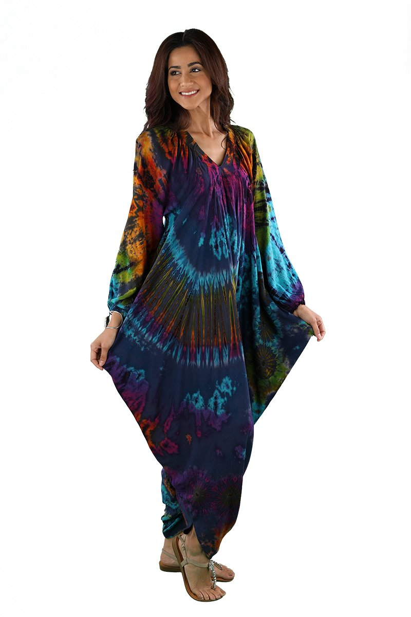 JUMPER DRESS RAYON  TIE DYE