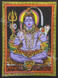 DEITY TAPESTRY SEQUINED SHIVA BLESSING