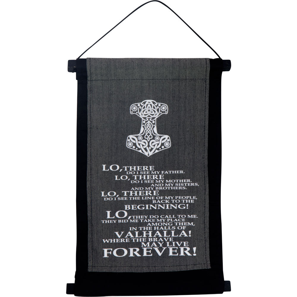 VALHALLA PRAYER INSPIRATIONAL BANNER WALL HANGING