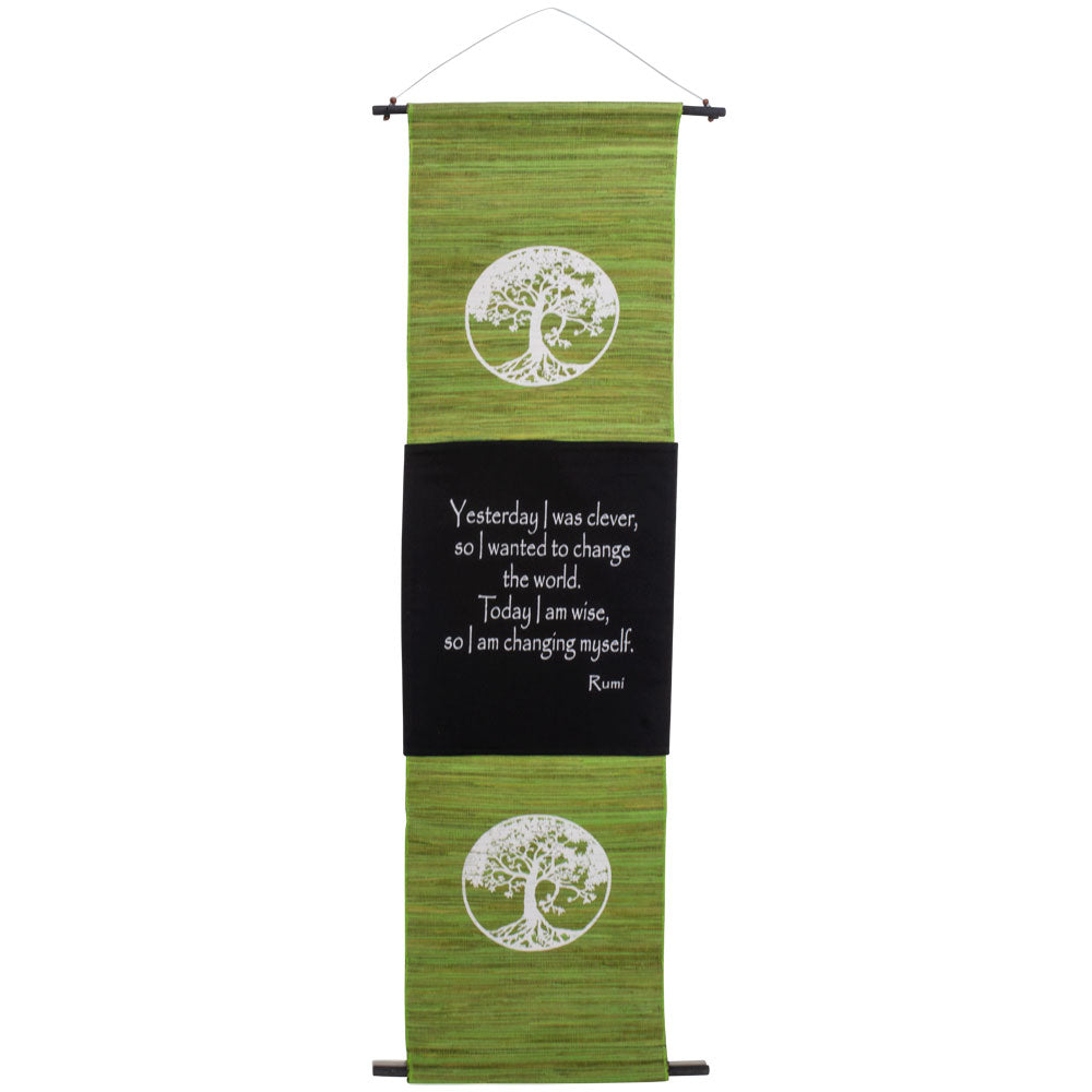 SEAGRASS TREE OF LIFE  INSPIRATIONAL BANNER WALL HANGING