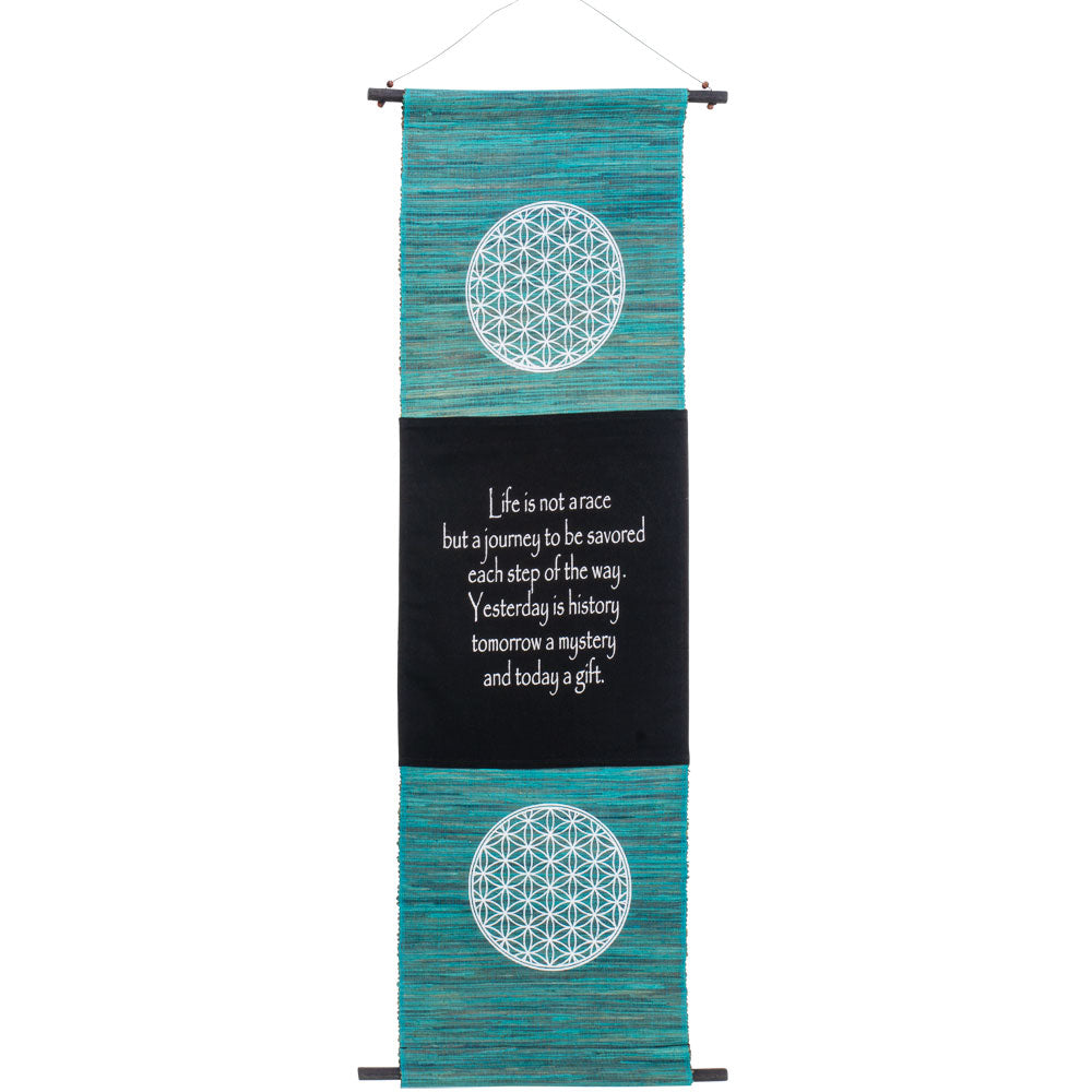 SEAGRASS FLOWER OF LIFE  INSPIRATIONAL BANNER WALL HANGING
