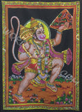 DEITY TAPESTRY SEQUINED HANUMAN