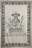 GANESHA TRADITIONAL TAPESTRY CHARIOT WITH MICE
